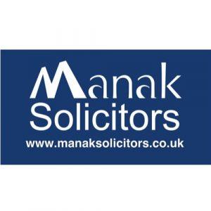 Manak Solicitors logo.